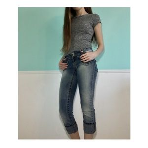 💢Comfy Cropped Jeans